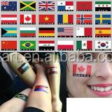2015 Brazil World Cup Soccer Flag Face Tattoo Sticker ,Nail Sticker/Safe Temporary Tattoo Sticker for Football Fans