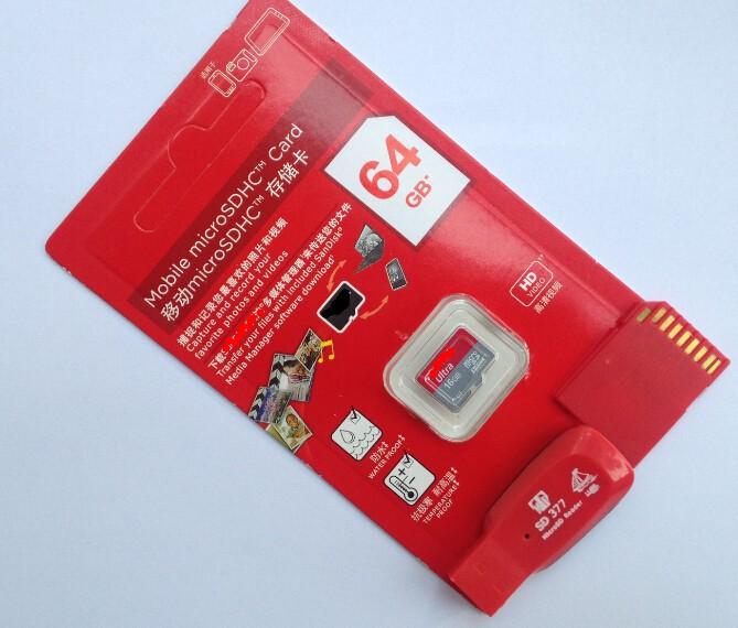 памяти 128mb 8 ГБ 16 ГБ 32 ГБ 64 Гб микро sd карты класса карты 10 + sd передачи адаптер + кардридер + картонную коробку
