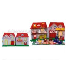 mini casa villa de juguete de plástico de juguete juguetes de la casa