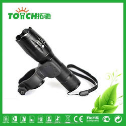 Flashlight Bike Zoomable with 3 pcs AAA battery and 1 pc 18650 Rechargeable Battery