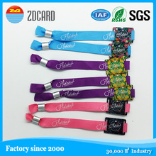 fabric, woven and silicon wristband for events, concerts, fairs