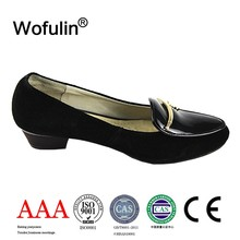 Metal accessory thick rubber water-proof mexico black size 34 small women shoes