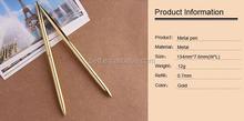 2015 new design Wholesale promotional cheap metal gold pen