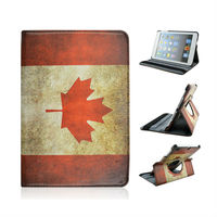 Factory New Product For Tablets Apple iPad Mini 1/2 With Canada National Flag Printed Leather Case