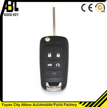 albcs black flip cover for auto parts chevrolet cruze key case 5 button