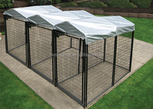made in china Black powder coating High Modular Dog Kennel with tents