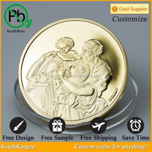 Famous Michelangelo the painter souvenir metal coin