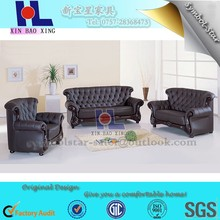 #918 Luxury design high quality Leather Chesterfield Sofa Set