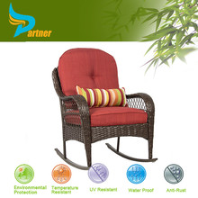Cheap Patio Promotional Armrest Rattan Outdoor Reclining Chairs Wicker/Rattan Rocking Chair / Indonesian Furniture Lazy Chair