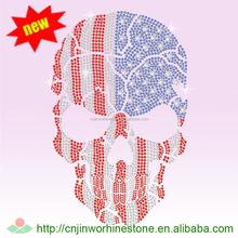 Beautiful skull Custom Crystal Skull Iron on Transfer Designs SKULL (30)