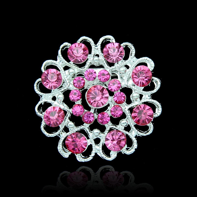 New Fashion Wedding Rhinestone Crystal Brooches Pins For Bridal bouquet Flower