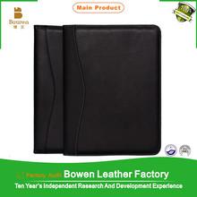 customized PU/P/C leather cover document portfolio,a4 size file folder