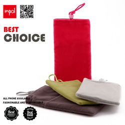 funky durable velvet cell phone sleeve for iphone 5 with earpohone collection