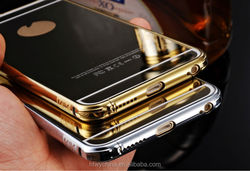 Original Supplier Aluminum electroplating mirror Case cover For apple phone,for iphone 6