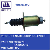 Diesel Engine Parts 3906398 SA-3151-12 12V DC Solenoid Valve For Electrical Stop Switch
