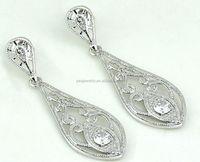 Daily wear simple design sterling silver drop earring