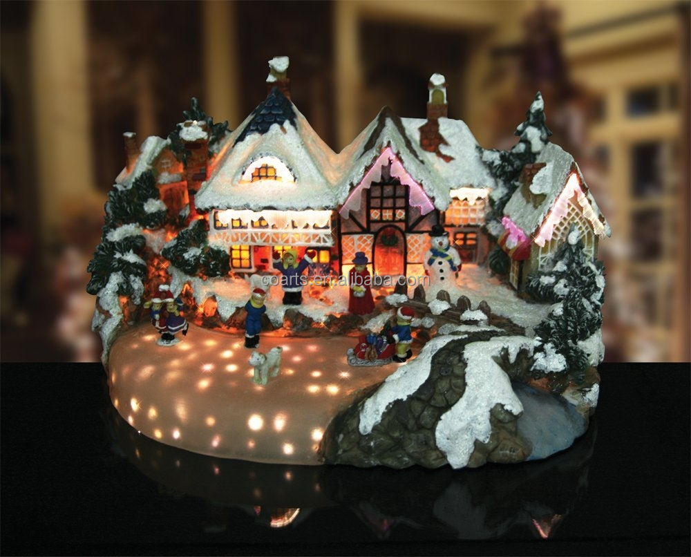 Christmas village lighted musical animated buy for Animated decoration