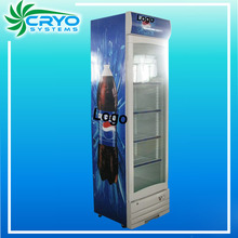 promocional de bajo coste slim vertical pequeña pantalla nevera refrigerador caso
