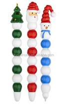 2015 Cute Kawaii promotion pen, Santa Claus ballpoint pen ,candied fruit pen CH6504