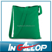 green cotton tote bag with logo printing