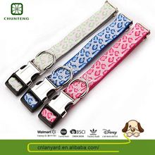 Custom Color Natural Color Pet Product Puppy Leash Magic Sticker Dog Collar
