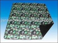 polyester fleece printed picnic rug
