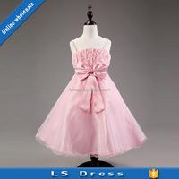 pink Party dress little girls winter butterfly dress