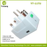 overseas usb travel adapter with mobile charges power adapter 220v plug eu au us uk power plug