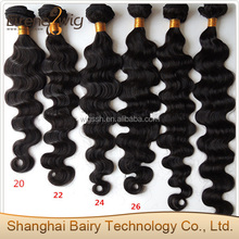 Eirene black label hair product loose wavy virgin natural raw indian hair piece