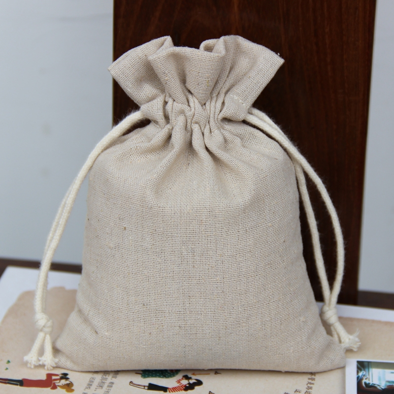2015 hot selling eco natural cotton pēke kume for rice packing 5kg 10kg capacity