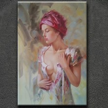 Beauty girl sexy woman oil paintings for bedroom