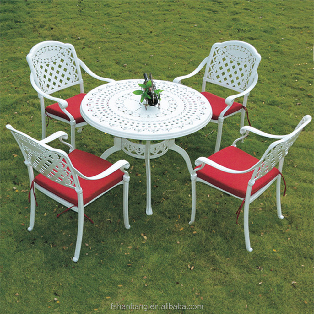 white metal outdoor furniture. T691 Table C16B Chair In White.jpg White Metal Outdoor Furniture H