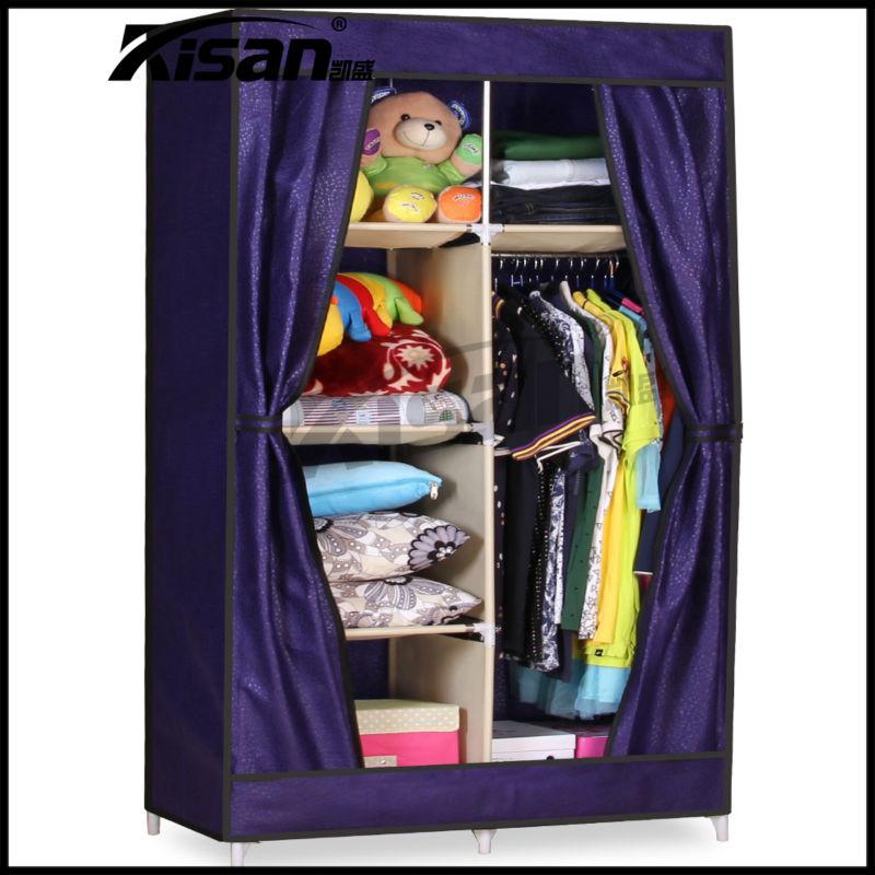 No tejido armario ropero tela plegable armarios gabinetes for Armario zapatero de tela