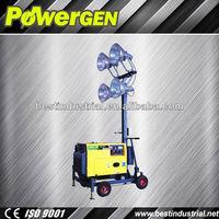 Hot sale!!! POWER-GEN 4x400w lights with diesel engine 186FAE 5KW Construction Lighting Tower