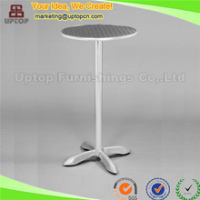 (SP-AT367) Wholesale aluminum high round outdoor pub table