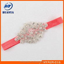 Latest fancy rhinestone hair bows girls hair belts