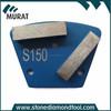 Blue Color Soft Bond Grit 150 2 Segments Metal Grinding Disc