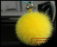 Alibaba China Factory Price Fox Fur ball keychain/Fox Fur Pompon