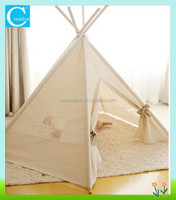 Natural Cotton Ivory Children Teepee Tent Play Tent