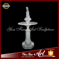 Indoor Garden Marble Wate Fountains For Decoration Stone Fountain