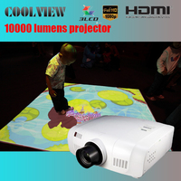 edge blending built in Full HD LCD 10000 lumens outdoor image projector