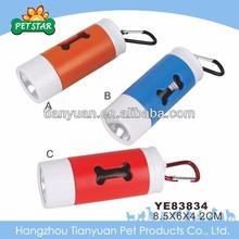 Pet waste bag dispenser/pet waste bag with light