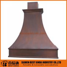 Diseño profesional campana de cobre para cocina comercial