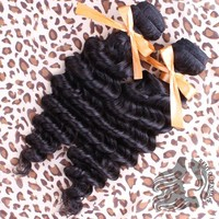 Brazilian Virgin Hair Deep Wave Curly Grade 7A 100% Human Hair Weaves Free Remy Queen Hair Products