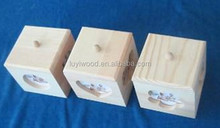 three style wooden small craft box front side can insert a photo mixed fill in bags together