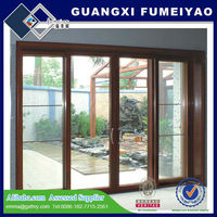 2014 new design high quality anti theft used commercial lowes sliding glass patio doors