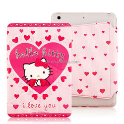 2014 new design High Quality hello kitty 3d case for ipad mini