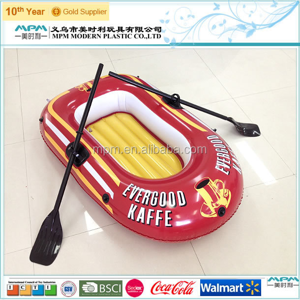 2014 pvc fashion plastic inflatable boat