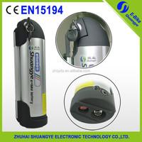 shuangye high quality 36v 12ah bottle ebike lithium battery