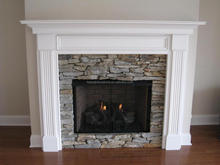 Nature stone granite & marble wall mounted electric fireplace